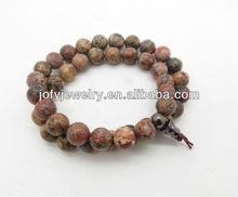 2013 summer instyle red leopard gemstone bracelet FTCW002