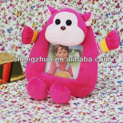 plush monkey with photo frame plush monkey