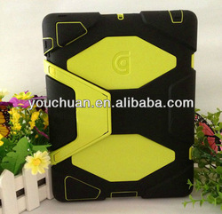 For new iPad Cover, HEAVY DUTY Hybrid Silicone Hard Stand Case Cover for new iPad 3 ipad2