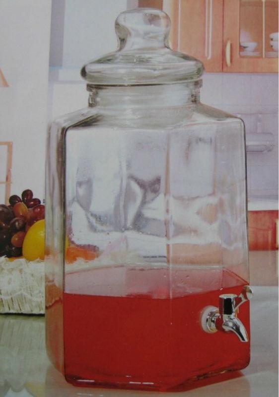 10l bocal en verre transparent avec robinet grand verre. Black Bedroom Furniture Sets. Home Design Ideas