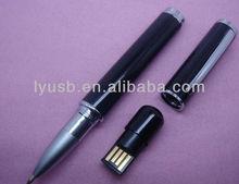 Pen shape usb stick 2gb , 8gb pen drive usb2.0 with logo , gift usb memory in pen shape 8gb
