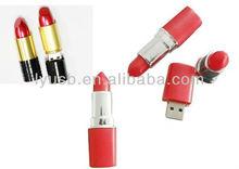 lipstick usb flash drive ,women's gift us stick in lipstick shape , red lipstick usb memory high quality