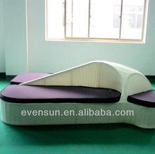 outdoor rattan/wicker double bed