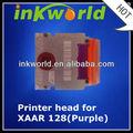 Venda direta da fábrica preço de cabeça para impressora xaar 128( roxo)