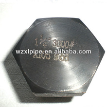 stainless steel npt threaded hex plug for pipe connection