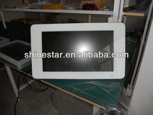 22inch wall mount digital LCD signage player with rolling caption & split screen display function