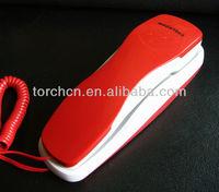 cheap basic key corded telephone, red wall ltelephone, decorative telephone