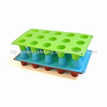 silicone cup ice cube tray ,silicone cake mould