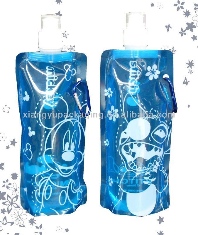 Cartoon Plastic Water Bottle Cartoon Plastic Foldable Water