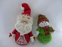 2013 new design christmas fabric santa claus and snow man decoration