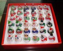 Glass christmas ornament for Santa Claus, Snowman, Deer, Fairy, Bear