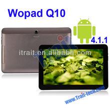 Wopad Q10,Android 4.1 10.1 Inch Tablet,A31 ARM 4-Cortex A7 GPU 8-SGX544MP2,2GB DDR3 RAM,16GB Nand Flash,Support WiFi,G-Sensor