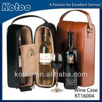 PU leather wine case