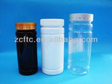 PET pill bottle 300cc, empty wide mouth pharmaceutical bottle