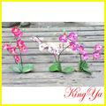 Pequenas artificial única orquídea de seda arranjo de flor( ky82159)