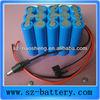 12v 10ah flashlight bttery protected 18650