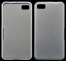 Clear TPU gel transparent soft case for Blackberry Z10 Dev Alpha B