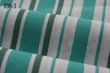 fresh 100% cotton green/white stripe shirt poplin in bulk