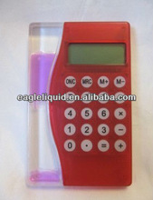 acrylic promotion customized floater aqua calculator