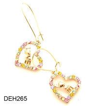 Love word earrings,Heart-shaped earrings,Fashion alloy earring