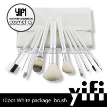 White case 10pcs makeup brush set 2012 best professional makeup brush sets