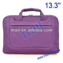 "bright color laptop briefcase/ Universal Interlayer 13.3"" Nylon Bag Single Shoulder Bag for Laptop/Tablet PC/iPad (Purple)"