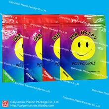 Mr.happy potpourri bag/herbal incense bag with heat sealed /Aluminum foil bag 4g 12g
