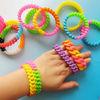 Hot Fashion Promotional Chain Gentiana Twist Shape silicone link band silica gel chain bracelet
