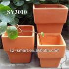 terracotta square planters pots