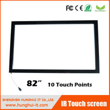 Large Screen 82 size 10 Points Infrared Large Touch Screens For Interactive Displays/Interactive table/wall/lcd tv