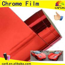 Chrome Foil 3M Quality Car Wrap Red Chrome Car Wrap Hot Sell 1.52*30 M