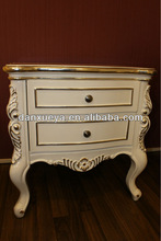 European classic Ivory white bedroom furniture nightstands TH01#