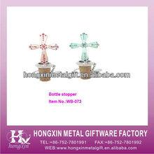 WB073 Christening decorative novelty metal wine corks for sale