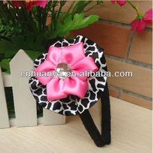 high quality boutique kids headband make fabric flower headband