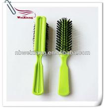 factory colorful nylon bristle hair brush, paddle hair brush