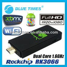 Cortex A9 RockChip CPU Android 4.1 Dual Core HDMI WIFI Mini PC TV Box