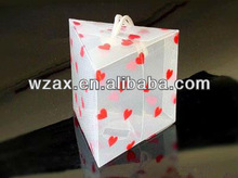 beauty print Triangle PP Gift Box with rope Hanger