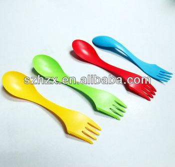 food grade fancy combined travel spoon fork knife