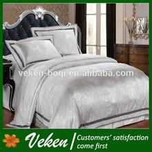 Jacquard silk bed sheet set