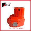 Herramientas eléctricas de la batería 12v( 2ah) para makita batería taladroinalámbrico para hitachi