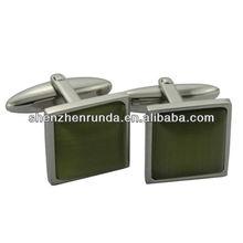 Best gifts father's day cufflinks green gemstone cufflinks Stainless Steel Cuff Links Manufacturer & Factory & Supplier