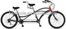 26 inch Alloy or HI-TEN frame V brake adult Tandem bike SY-TD2609
