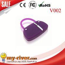 Custom lovely bag shape USB Flash Drive white rice bag usb flash drive