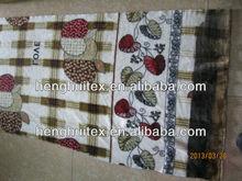 100% polyester super soft flowers print flannel fleece fabric/blanket