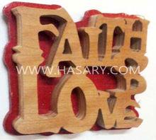 Faith, Love, Hope Wood Letter Wall Decoration