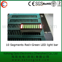 manufacturer direct 10 segment red+green led light bar widely used in the car
