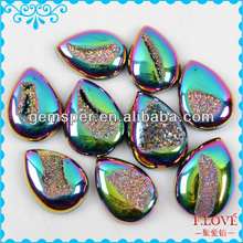 Wholesale Natural Agate Druzy Drusy Quartz Stone Beads D040101