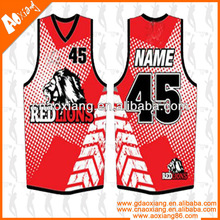 JB002 Digital print Basketball jersey for Australian Gear