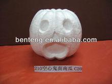 white polyfoam halloween pumpkin carving