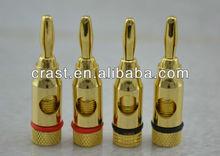 New 24K Gold plated Speaker Amp banana adapter